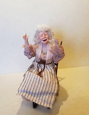 D/house Miniature Happy Hag Doll Giddy Kipper 1/12th  - Resell OOAK WITCH