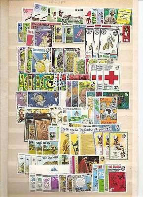 GAMBIA 1970/83  Commemoratives  SG262/526 unmounted mint
