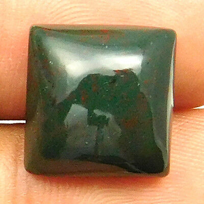 11.40 cts Natural Bloodstone Gemstone Cushion Shape Loose Cabochon For Jewelry