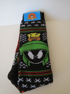 Warner Bros Looney Tunes Tall Warm Socks MARVIN THE MARTIAN Fits Most MENS10/13