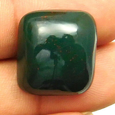 25.10 cts Natural Bloodstone Gemstone Cushion Shape Loose Cabochon For Jewelry