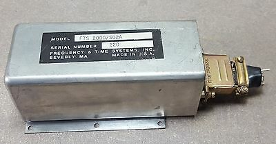 FREQUENCY & TIME SYSTEMS INC Model# FTS 2000/S02A 10.2300MHz P/N 2812257-2