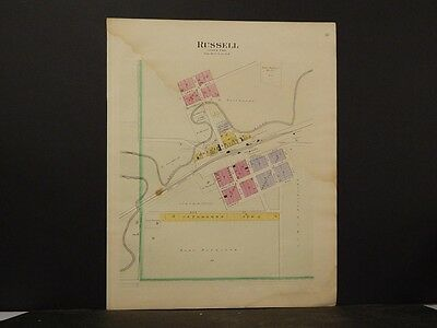 Minnesota, Lyon County Map 1902 Tracy  J5#87 Double Sided Double Page