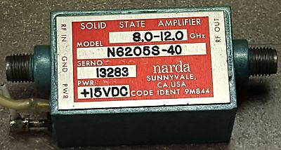 Narda Solid State Amplifier N6205S-40 Freq 8.0 to 12GHz