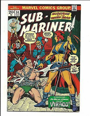 SUB-MARINER # 64 (Prince Namor, CENTS ISSUE, AUG 1973), VF