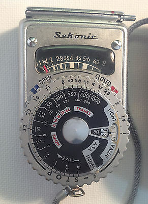 Vintage Sekonic L-6 Light Meter With Brown Leather Case