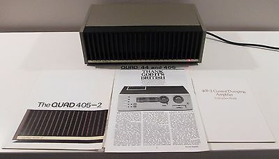 Quad 405-2 Power Amplifier Works Perfect A+Condition Original Manual Serviced