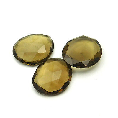 25.50 cts Natural Smoky Quartz Fancy Shape Both Side Faceted Gemstone 3 pcs lot