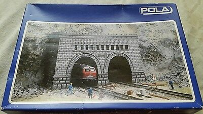 A model plastic kit by pola for N gauge of a twin track tunnel portal