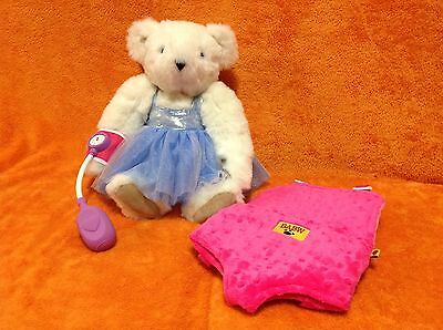 Vermont Angel Teddy Bear With Build-A-Bear Backpack Carrier & Sphygmomanometer