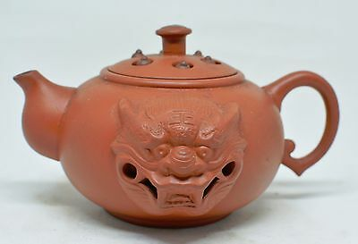 Chinese Yixing Clay Teapot ~ 3'' Tall ~ Marked~