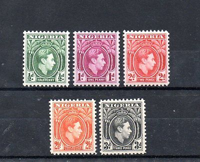 set of 5 mint GVI stamps from nigeria