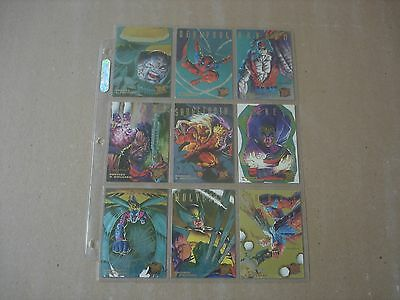 1995 Fleer Ultra X-Men Hunters And Stalkers 9 Card Complete Set Cable Gold