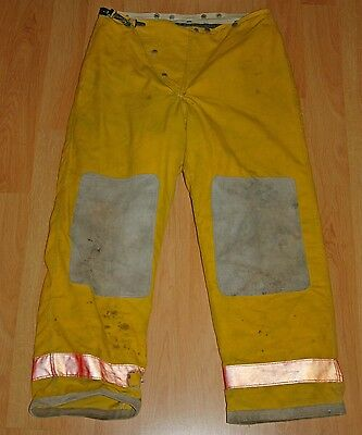 Bunker gear turnout gear Globe fire fighter pants & liner 38 x 30 used
