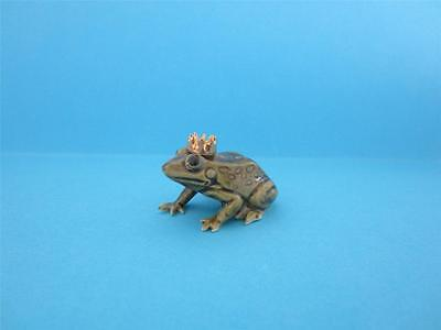 HAGEN RENAKER PRINCE FROG FIGURINE WITH GOLD CROWN W/BOX *Mint*