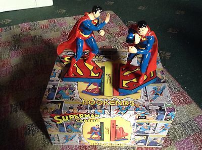 Official Superman Resin Bookends Perfect Gift