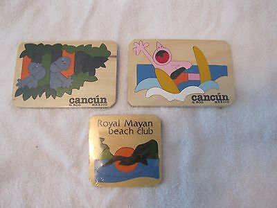 NEW in Packaging - SET of 3 Royal Mayan Beach Club CANCUN MEXICO - Promo Puzzles
