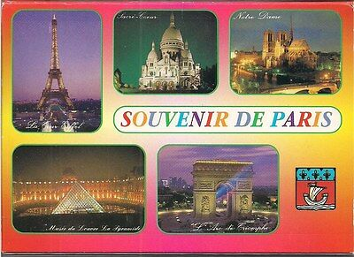 (Postcard Book) Souvenir De Paris