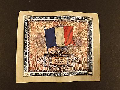 Genuine ~ Wwii ~ Allied Military Issue 1944 French 5 Franc Note