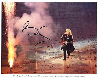 Brian May Signed Queen Autograph 10x8 Photo London 2012 Olympics