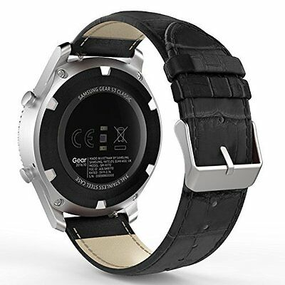 Samsung Gear S3 Smart Watch Band  Premium Soft Genuine Leather Replacement Strap