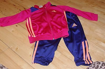 Cute Adidas girls full tracksuit age 2 - 3 years