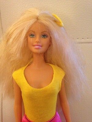 Lovely 1998 Mattel Party Barbie. Blond Hair Yellow Clip Funky Boots! VGC