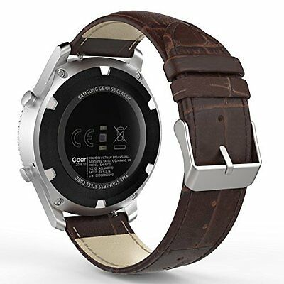 Samsung Gear S3 Watch Band Genuine Leather Crocodile Pattern Replacement Strap