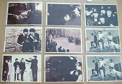 9 - Original Beatles Cards from the Early 1960's -  6 are Hard Day's Night