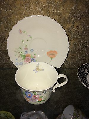 Vintage Mikassa 'Something Blue Cabinet  cup & saucer mothers day ??