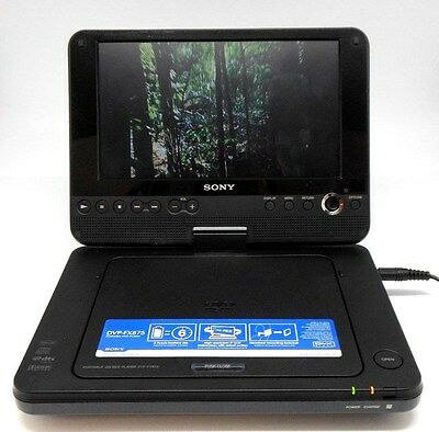 Sony portable DVD player DVP-FX875 with lead and case.
