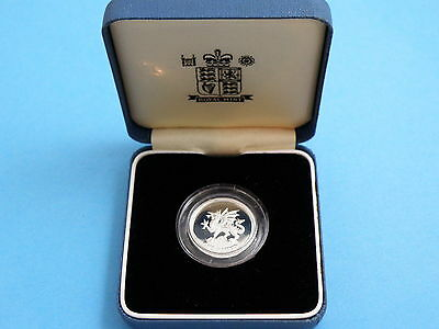 1995 Royal Mint SILVER PROOF ONE POUND £1 COIN - Welsh Dragon