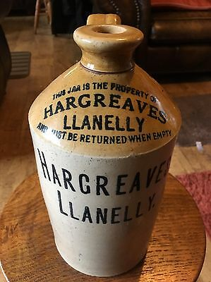 Rare 1/2 Gallon Hargreaves Llanelly Jar Not Ginger Beer