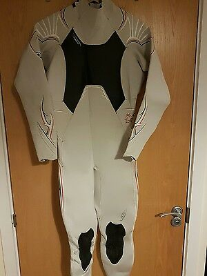 Mystic cure 3/2 steamer double lined wetsuit large white