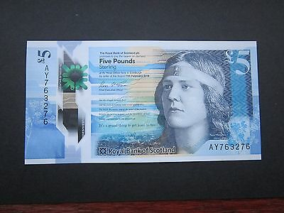 The Royal Bank of Scotland PLC £5 Five Pound Note (Plastic Polymer) Uncirculated