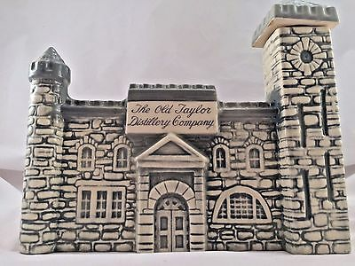 Old Taylor Distillery Co  Bourbon Whiskey Empty Decanter Porcelain Castle 1968