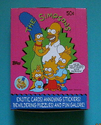 1990 Topps The Simpsons Trading Cards 36 Ct Full Box Unopened Wax Packs