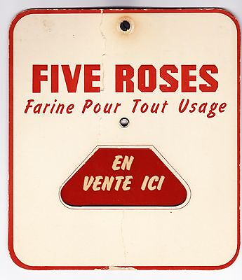 Five Roses Flour (Farine) Mechanical Retail Window Sign/ Quebec Mkt/french