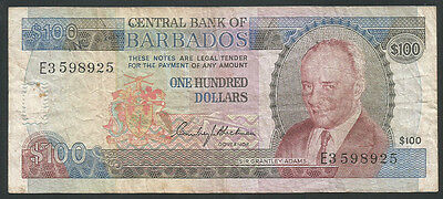 Barbados ND (1973) P-35B Fine 100 Dollars *Scarce Early Type*