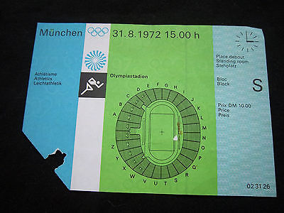 Orig.Ticket  Olympic Games MÜNCHEN 1972 - ATHLETIC 31.08. // 2 Final`s  !!  A