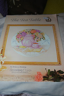 The Tea Table By Rebecca Waldrop Serendipity Designs Dmc Cross Stitch Chart
