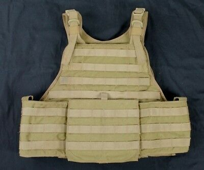 "Eagle Allied Industries MJK Khaki Tan MBAV L/XL Plate Carrier Vest ""B-"" SOCOM SF"