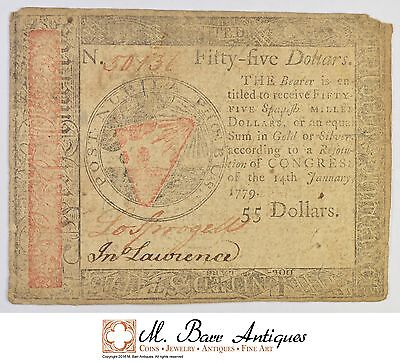 1779 $55.00 Continental Congress Colonial Currency *395
