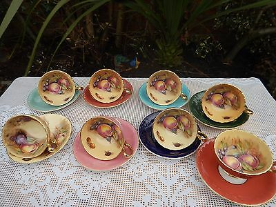 Aynsley Gold Orchard cups & saucers