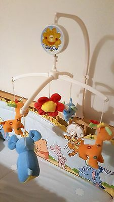 Baby Crib Mobile Bed Bell Toy and Wind-up Music Box