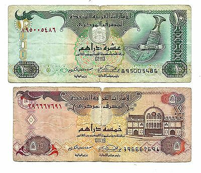 United Arab Emirates  10 & 5 Dirhams