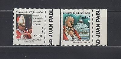 El Salvador 1996 Pope John Paul II Sc 1429-1430  mint never hinged