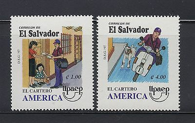 El Salvador 1997 America Postal Workers Sc 1470-1471  Mint Never Hinged