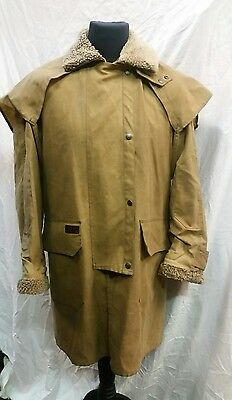 Mens Toggi Rough Country Wax Hooded Coat Size Small
