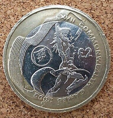 """£2 COMMONWEALTH GAMES WALES TWO POUND COIN HUNT 2002 Circulated """"""""RARE"""""""""""
